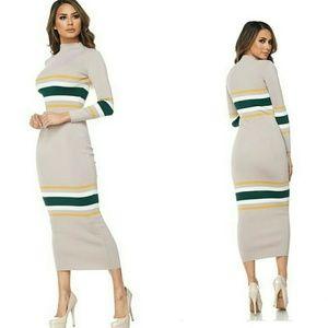 Pinstripe Maxi Sweater Dress ~ S A L E ~